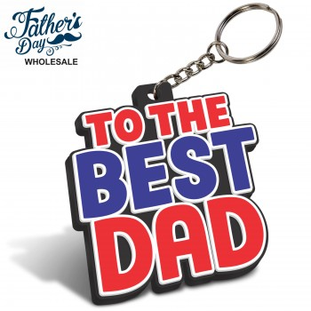 "Fathers Day Flexible Coaster ""Best Dad"" Wholesale or School Fundraising Gift"