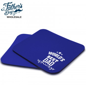 Fathers Day Mouse Mat World's Best Dad - Wholesale or School Fundraising Gift