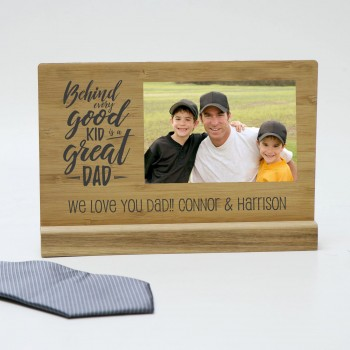 Custom Wooden Desk Sign Printed Fathers Day Gift