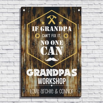 Personalised Large Sign Grandpa's Workshop - Fathers Day Gift