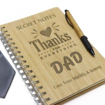 Personalised Fathers Day A5 Lined Notebook Hard Cover