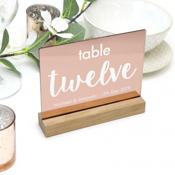 Rose Gold Personalised Table Number