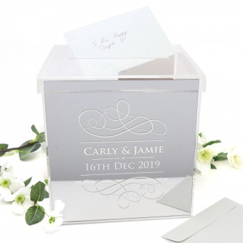 Printed Silver Acrylic Personalised Wedding Wishing Well
