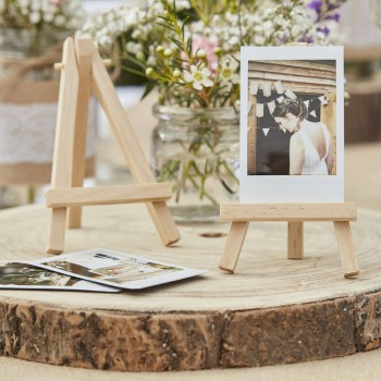 Small Wooden Stand Easel - Wedding Table Decorations - Place Card Holder