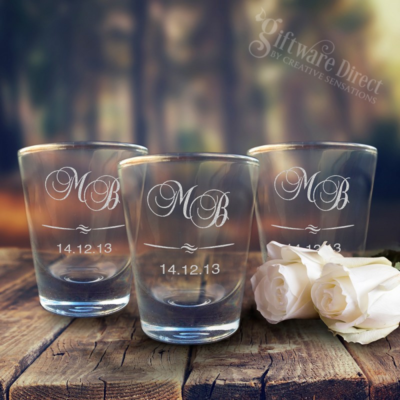 64eeace06b1d Engraved Wedding Shot Glasses Cheap Favours Australia Personalised