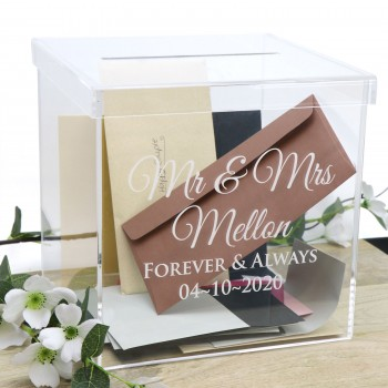 Printed Clear Acrylic Personalised Wedding Wishing Well