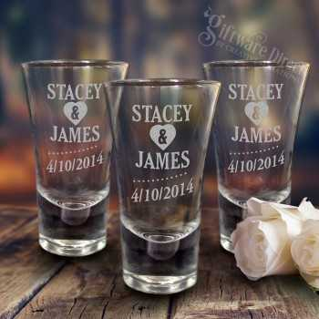 engraved deluxe 60ml wedding shot glasses cheap favours australia
