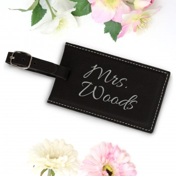 Personalised Luggage Tag End of Year Teachers Gift Black