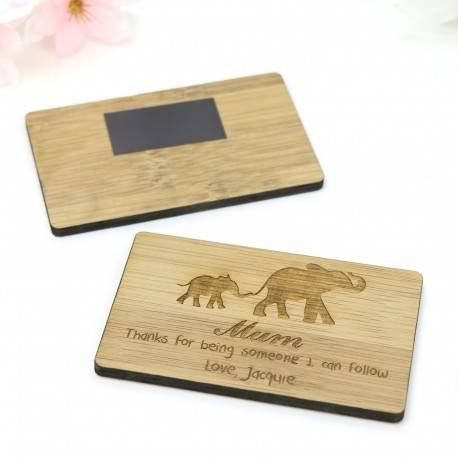 Engraved Cherry Timber Personalised Magnet Mothers Day Gift