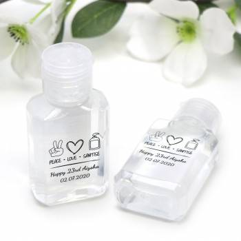 Personalised Hand Sanitiser Wedding Guest Favours
