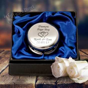 personalised engraved yo-yo page boy gift for weddings