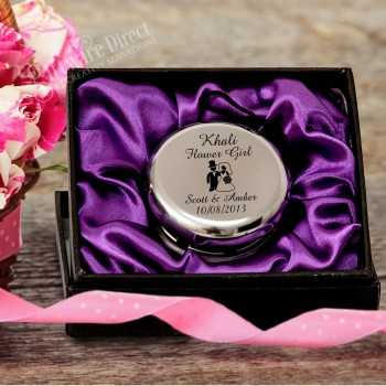 personalised engraved yo-yo flower girl wedding fit purple