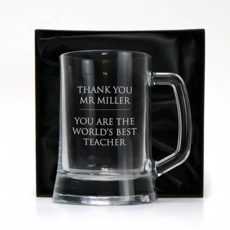 Personalised Stemless Wine Glass Teachers Gift