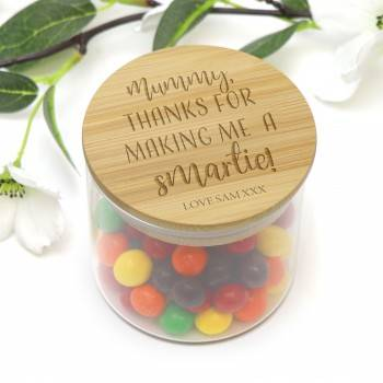 Mothers Day Engraved Smartie Jar Personalised Gift