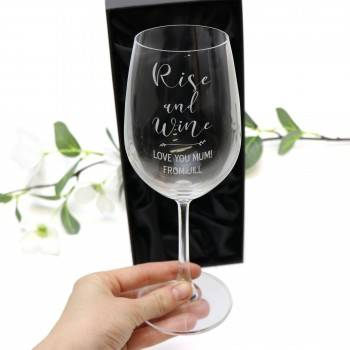 Engraved 350ml Wine Glas Mothers Day Gift