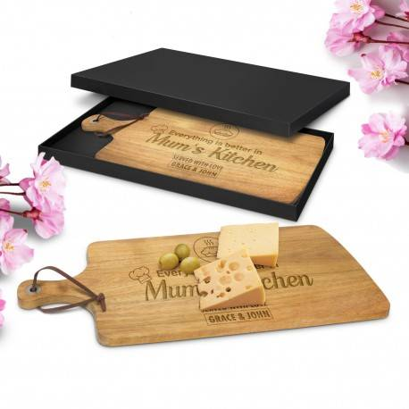 Premium Mothers Day Cheese Serving Board in Gift Box