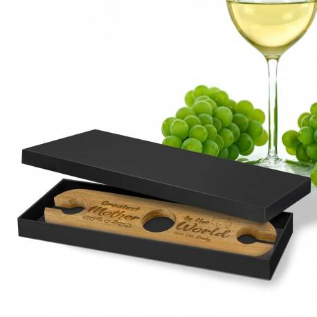 Personalised Engraved Wooden Wine Glass Holder