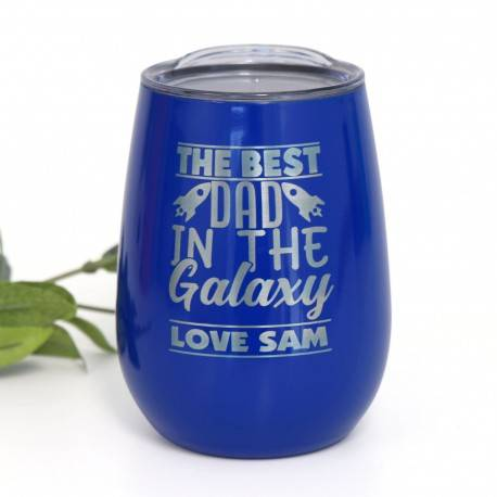 Dark Blue Stainless Steel Takeaway Coffee Mug Father's Day Gift