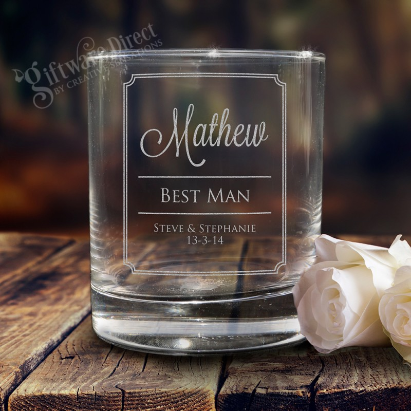 Personalised Engraved Whisky Whiskey Spirit Glass Tumbler Birthday Wedding Gift