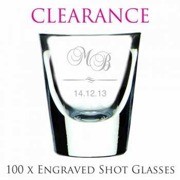 clearance engraved wedding shot glasses cheap favours australia