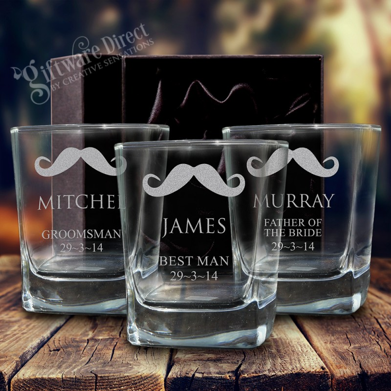 c1bbb096d86 ... engraved quartet scotch glass for groomsman gift ...