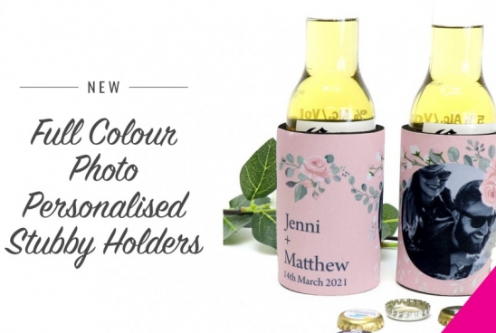 New Full Colour Photo Personalised Stubby Holders