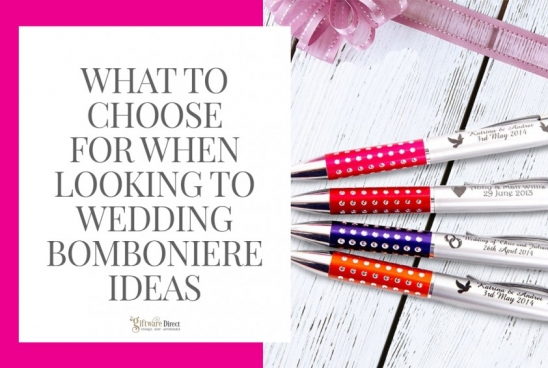 What to Choose for When Looking to Wedding Bomboniere Ideas