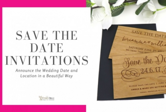 Save The Date Invitations - Announce the Wedding Date & Location Beautifully