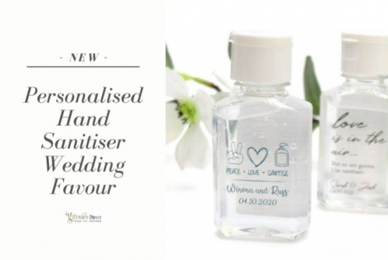 New Personalised Hand Sanitiser Wedding Guest Favours